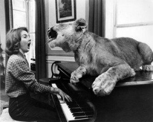 piano and lion